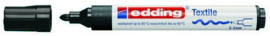 Edding Textielstift zwart 2-3 mm