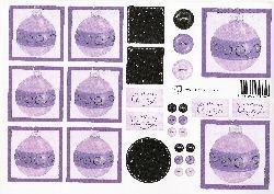 knipvel: paarse kerstballen