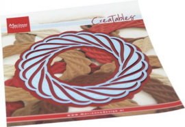 Creatables stencil Wicker Wreath LR0691