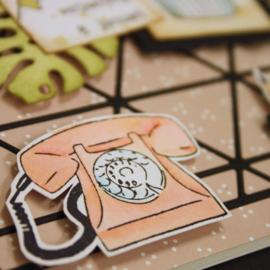 Clear stamp Marjoleine's Bujo - Dagen en Planning MZ1908