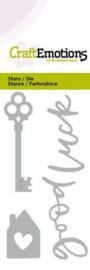 CraftEmotions Die (0285) sleutel en 'Good luck'
