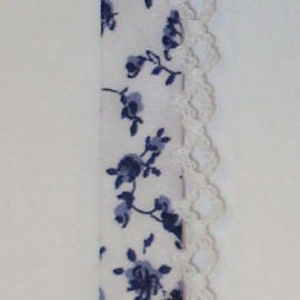Biaisband blauwe bloemen (33)