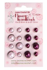 Pearl brads pink & bordeaux (724834)