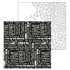 Paperfuel scrapbook papier 30,5x30,5cm 200g silence