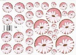 knipvel: cirkel 1: roze bloemen