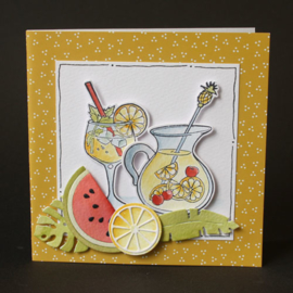 Clear stamp Hetty's Summer - Sangria HT1655