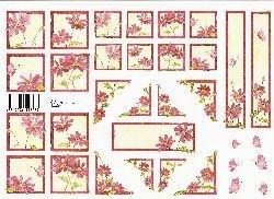 knipvellen: roze bloemetjes