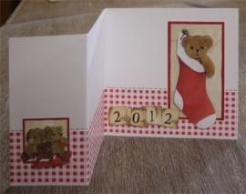 Voorbeeld kaart kerstberen