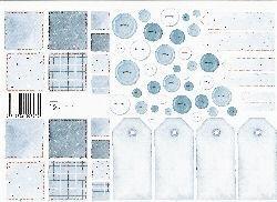 vel: patchwork blauw
