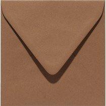 vierkante envelop (14 x 14 cm) nootbruin (939) voorheen 39 nootbruin