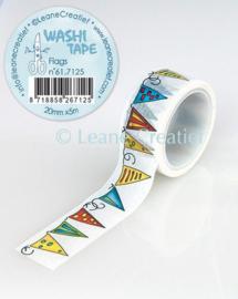 Washi tape Vlaggetjes 20mm x 5m 61.7125