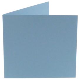 vierkante kaart (13,2 x 13,2 cm) lichtblauw (964) lijkt op ijsblauw 42