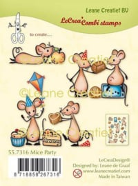 Clear stamp Muizen party 55.7316