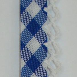 Biaisband donkerblauwe ruit (22)