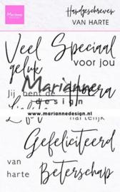 Clear stamp CS1049 Handgeschreven Van Harte