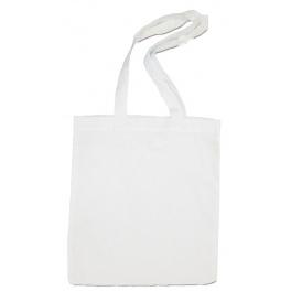 Witte tas 38 x 42 cm (met lange hengsels)