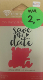 Stempel en stans Save the Date