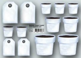 1337 bloempotten en labels