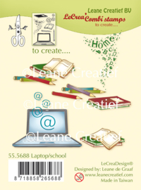 Clear stamp Leane: Laptop / School (555688)
