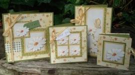 Voorbeeld kaarten gele bloemetjes