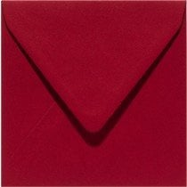 vierkante envelop (14 x 14 cm) kerstrood (943) voorheen 43 kerstrood