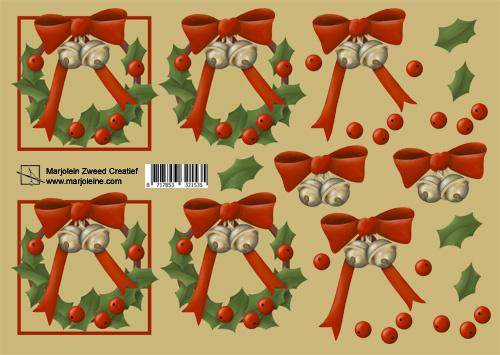1535 rode kerst krans
