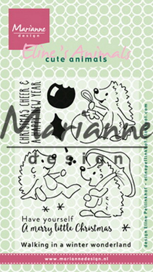 Clear stamp: (EC0173) Eline's Christmas hedgehogs