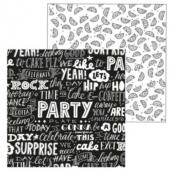 Paperfuel scrapbook papier 30,5x30,5cm 200g party
