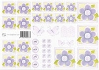 Paarse bloemetjes (roosjes) 0767