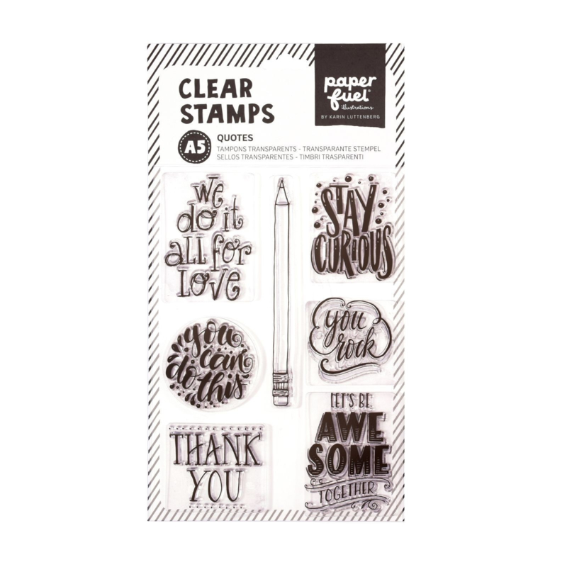 Paperfuel Clear stamp A5 quotes PF107001