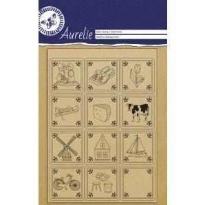 Clear stamp Aurelie (AUSC 1020) Hollandse stempels Delfts blauwe tegeltjes