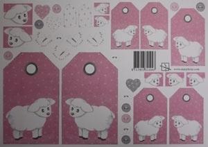 Labels met schaapjes