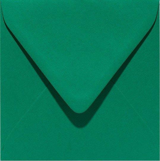 vierkante envelop (14 x 14 cm) donkergroen (916) voorheen 16 donkergroen