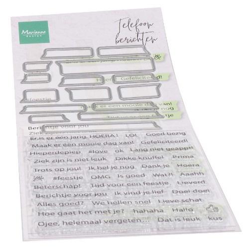 Clear stamp Telefoonberichten CS1059