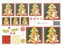 knipvel: meisje bij kerstboom