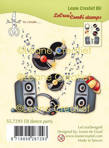 Clear stamp DJ dance party 55.7293
