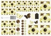 Groene bloemetjes (roosjes) 0781