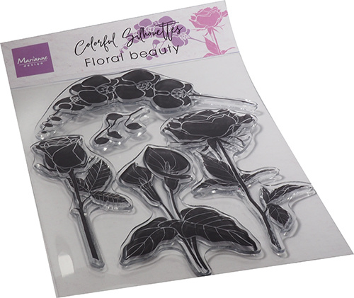 Clear stamp Colourful Silhouette Floral Beauty CS1083
