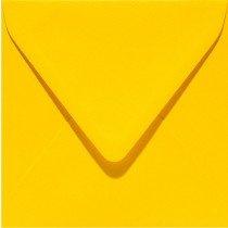 vierkante envelop (14 x 14 cm) dottergeel (910) voorheen 10 dottergeel