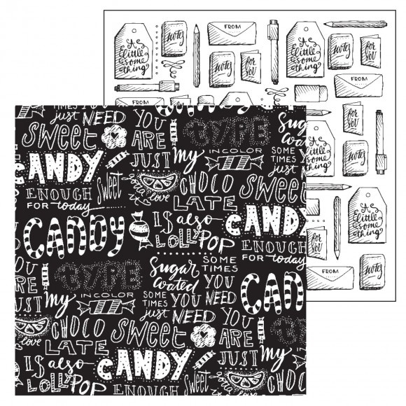 Paperfuel scrapbook papier 30,5x30,5cm 200g candy