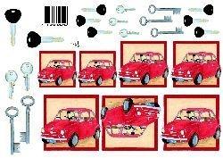 knipvel: rood autootje
