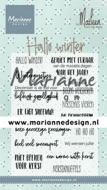 Clear stamp: (CS1036) Hallo winter by Marleen