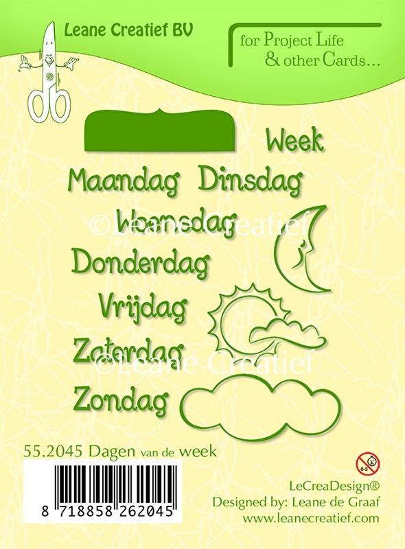 Project life clear stamp Leane: Dagen van de week (552045)
