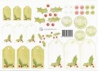 knipvel: groene kerstlabels