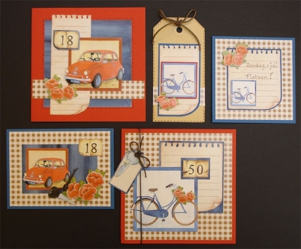 Voorbeeld kaarten auto en fiets