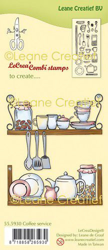 Clear stamp Leane: Coffee service (555930)