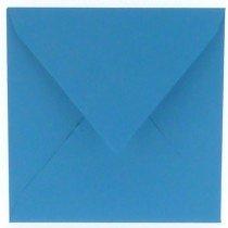 vierkante envelop (14 x 14 cm) korenblauw (965) lijkt op korenblauw 05