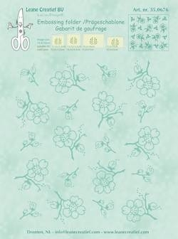 Embossing folder Leane: blossom (350.676)
