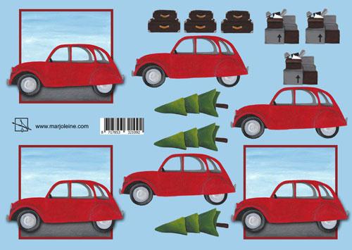 1214 auto met kerstboom