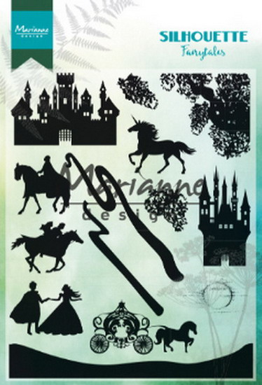 Clear stamp: (CS1020) silhouette fairytales